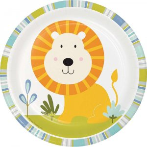 Happy Jungle Animals small paper plates (8pcs)