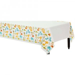 Happy Jungle Animals plastic tablecover