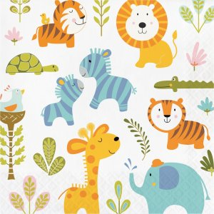 Happy Jungle Animals luncheon napkins (16pcs)