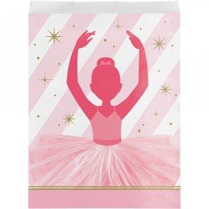Ballet paper treat bags 10/pcs