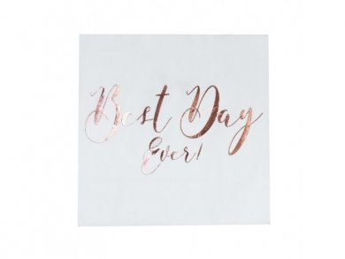 Best day Ever Rose Gold Foiled Napkins (20pcs)