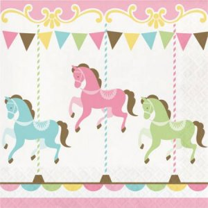 Carousel luncheon napkins 16/pcs