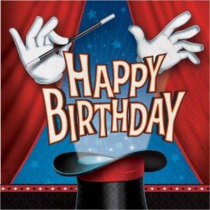 Χαρτοπετσέτες Happy Birthday Πάρτυ Με Μαγικά 16/Τμχ