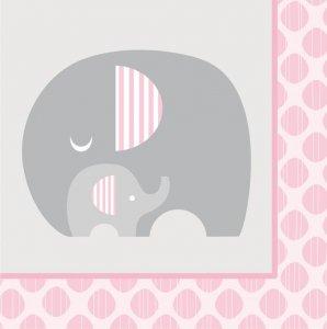 Μικρό Ελεφαντάκι Ροζ Χαρτοπετσέτες (16τμχ)