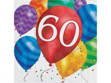 60 Balloon Blast Luncheon Napkins (16pcs)