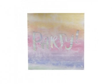 Iridescent Party Foiled Luncheon Napkins (20pcs)