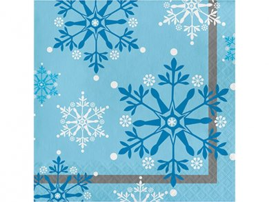 Snowflakes Luncheon Napkins 16pcs