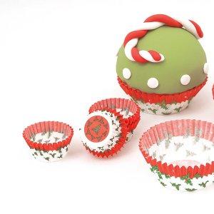 Christmas Mini Cupcake Cases 100/pcs