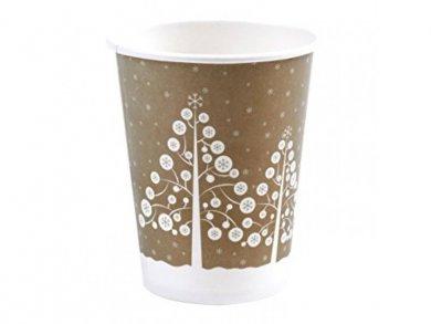 Gold Winter Wonderland Paper Cups (8pcs)