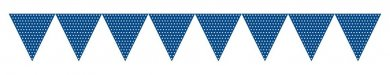 Blue Dots paper flags bunting