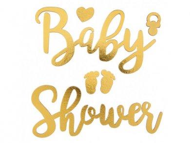 Χρυσά Τρισδιάστατα Αυτοκόλλητα Baby shower