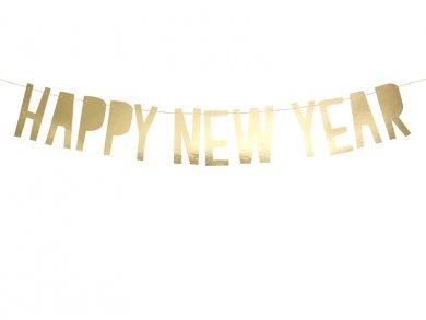 Χρυσή Γιρλάντα Happy New Year (90εκ)