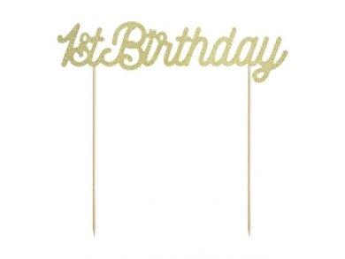 Χρυσό 1St Birthday Αξεσουάρ Για Τούρτα