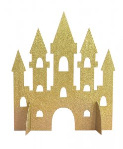 Gold with Glitter Castle Centerpiece Table Decoration