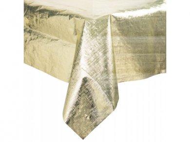 Χρυσό Μεταλλικό Πλαστικό Τραπεζομάντηλο (137εκ x 274εκ)