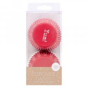 Yum Red Cupcake cases 150/pcs