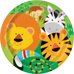 Jungle Animals Large Paper Plates (8pcs)