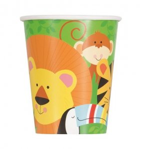 Jungle Animals Paper Cups (8pcs)