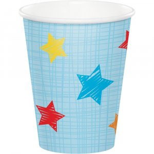 Jungle Animals Paper Cups for First Birthday (8pcs)