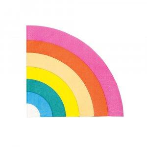 Rainbow Gold Foiled Napkins 16/pcs