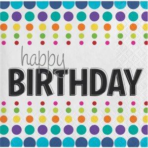 Birthday Pop Happy Birthday Beverage Napkins 16/pcs