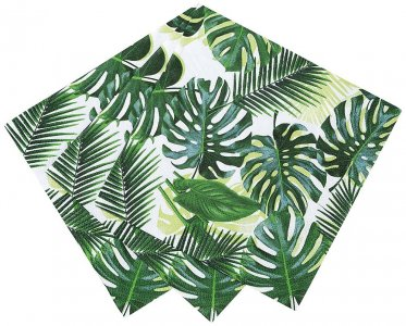 Tropical Leaves Beverage Napkins 20pcs