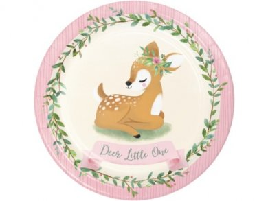 Little Deer Large Paper Plates (8pcs)