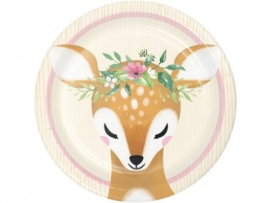 Little Deer Small Paper Plates (8pcs)