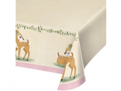 Little Deer Paper Tablecover (137cm x 259cm)