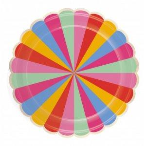 Fiesta Pattern Paper Plates (8pcs)