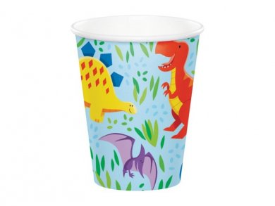 Dinosaurs Friends Paper Cups (8pcs)