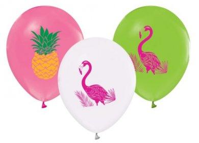 Flamingo and Pineapple Latex Balloons (5pcs)