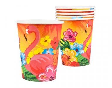 Flamingo and Hibiscus Paper Cups (6pcs)
