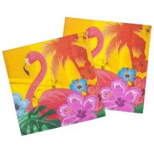 Flamingo and Hibiscus Luncheon Napkins (12pcs)