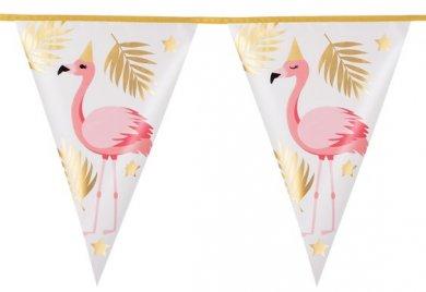 Flamingo Gold Foiled Flag Bunting (4m)