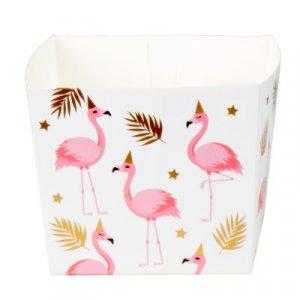 Flamingo with Gold Foiled Details Treat Boxes (6pcs)