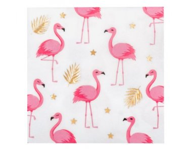 Flamingo with Gold Foiled Details Luncheon Napkins (12pcs)