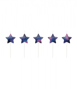 Galaxy Stars Mini Cake Candles (5pcs)