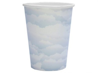 Pale Blue Clouds Paper Cups (10pcs)