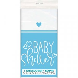 Pale Blue Baby Shower Plastic Tablecover Party Supplies For Baby Boy