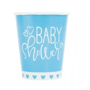 Pale Blue Baby Shower Paper Cups (8pcs)