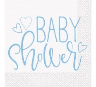 Γαλάζιο Baby Shower Χαρτοπετσέτες (16τμχ)