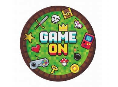 Game On Small Paper Plates (6pcs)