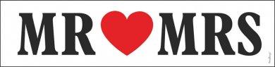 Άσπρη Πινακίδα Mr & Mrs