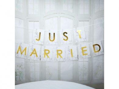 Γιρλάντα ΄Ασπρο Marble Just Married (1,8μ)
