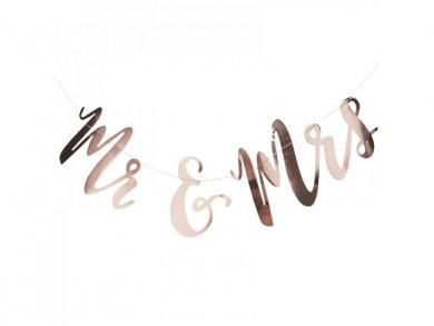 Mr and Mrs Rose Gold bunting (1,5m)