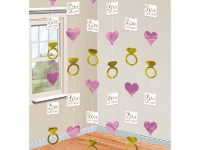 String Decoration Love Always and Forever (6pcs)