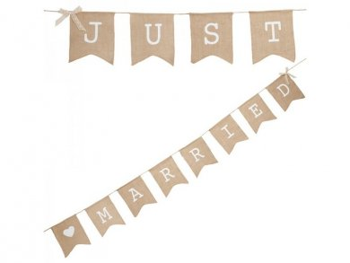 Just Married Hessian Bunting (2,5m)