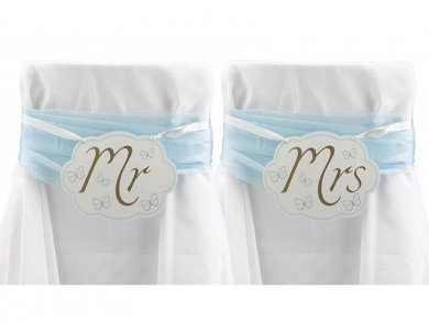 Mr & Mrs Chair Decoration signs