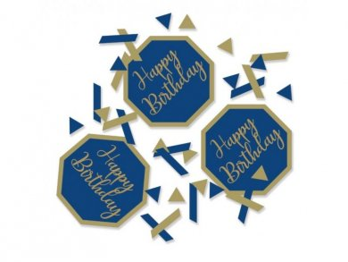 Navy Blue & Gold Birthday Party Confetti 14g